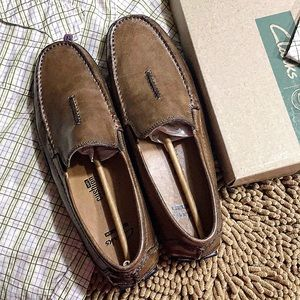 Clarks Ashmont Race driving loafer tan 10 M